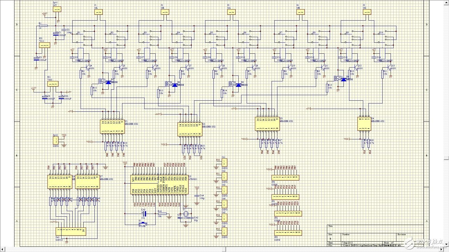 求解这个电路的几个IC分别是什么作用