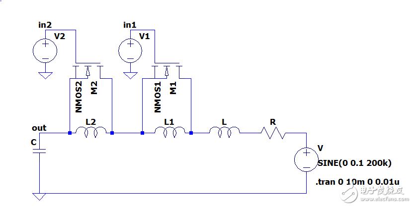MOS管控制LC谐振电路电感值的变化