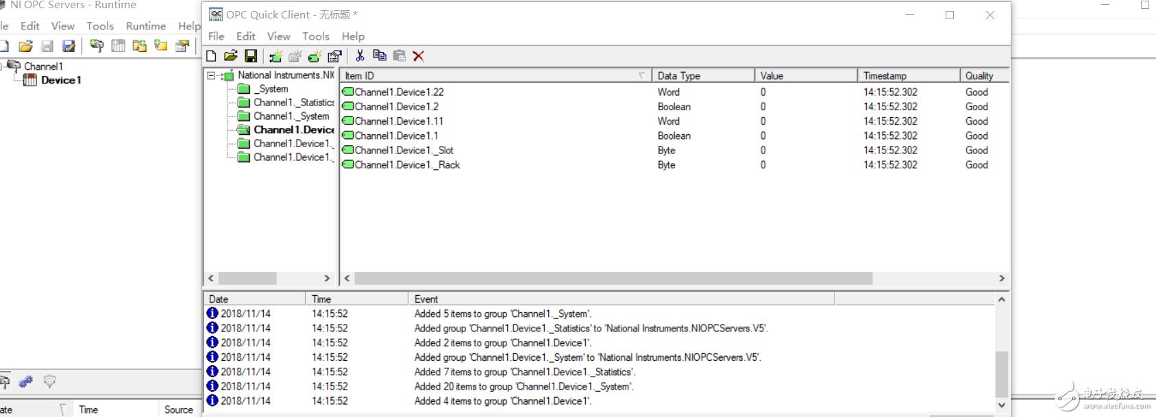 labview2018用OPC Server 2016与S7-1200通讯,S7-1200使用的是仿真软件S7-PLCSIM V14,quality显示good但是value值没与PLC同步?