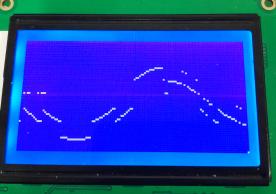 用ADC0804采集正弦信号,LCD12864采集到的波形断断续续,求问如何解决啊?让它显示正常的正弦波形。