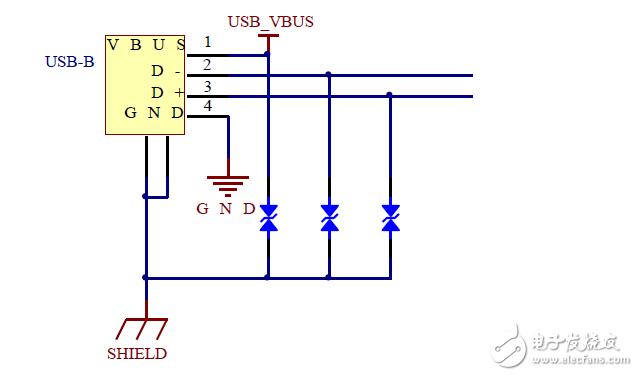 有人能解释一下这个USB ESD保护电路吗?