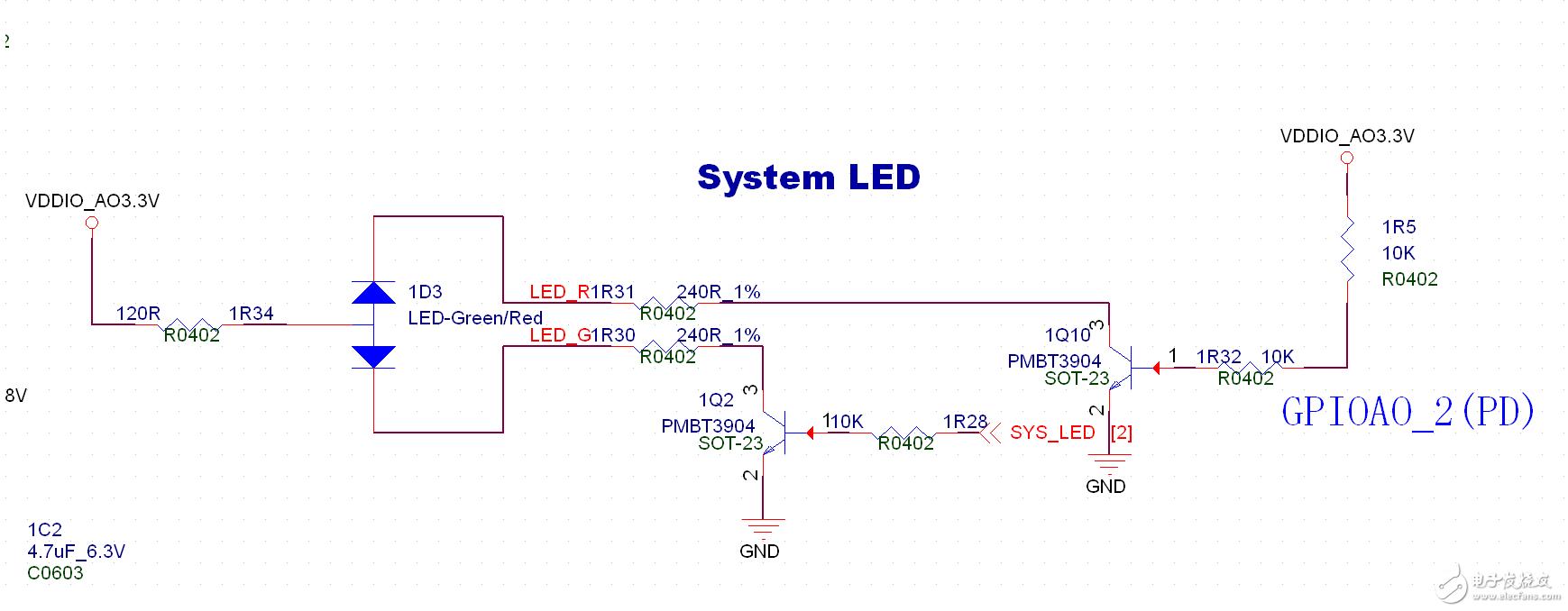 分析LED燈控制電路的原理
