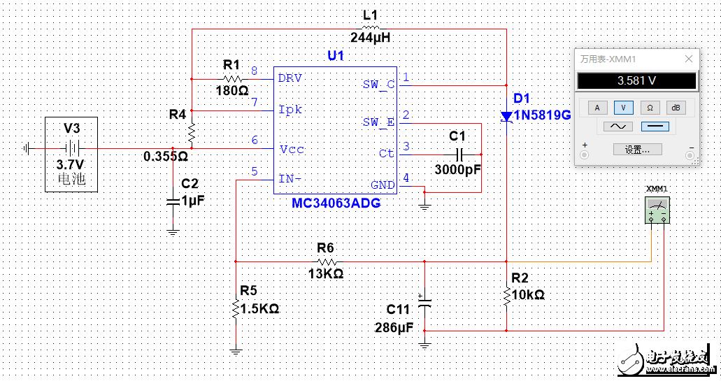 MC34063用于3.7v升12v失败,输出比输入还要低,请问究竟是什么原因啊?