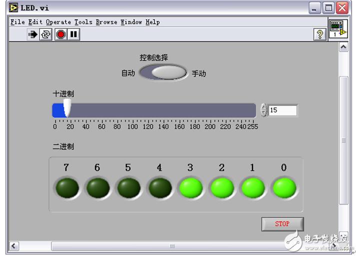 labview编程模拟十进制数到二进制数的转换过程