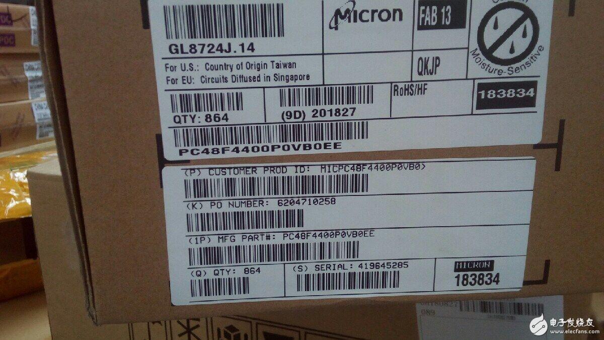 可供应micron   PC48F4400P0VB0EE 香港进货