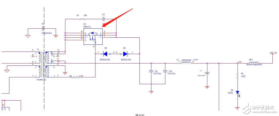 这个电路MOS管可不可以由二极管代替