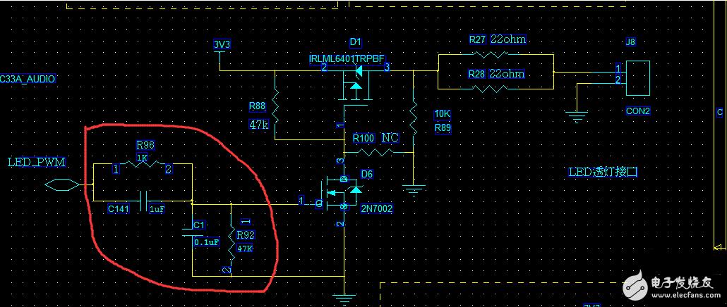 请问该电路里面电阻和电容的作用