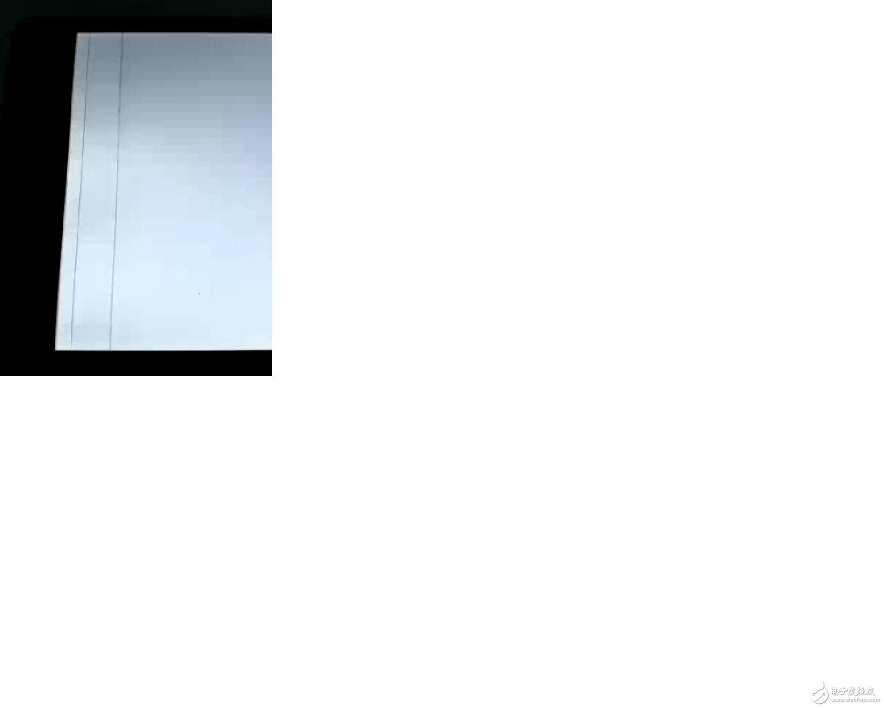 平板电脑屏幕出现竖线