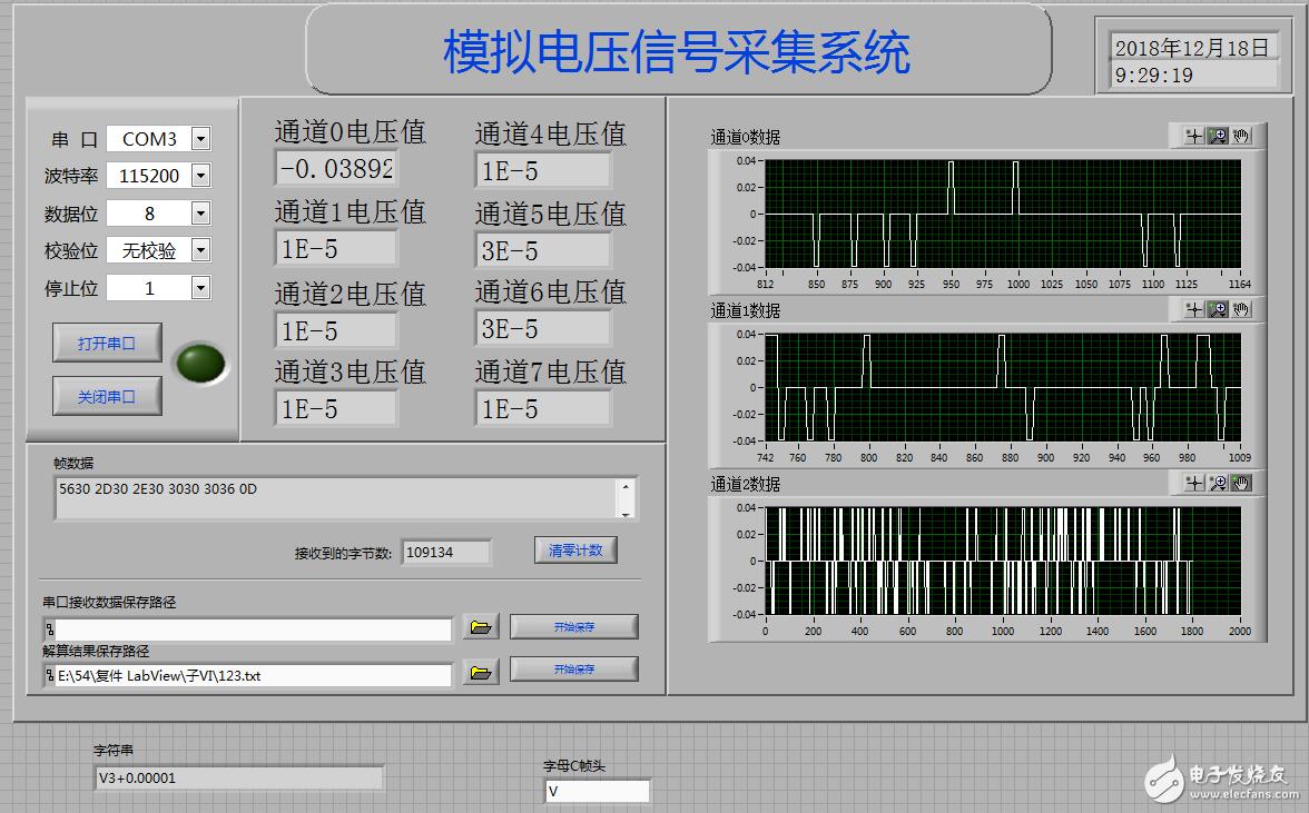 求教!stm32AD采集板labview接收出错