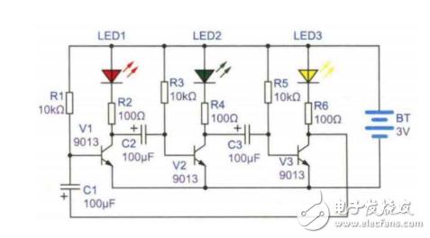 【每天看电路第70期】LED循环灯电路