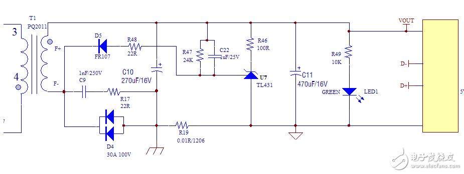 QC3.0快充輸出端的電路原理討論