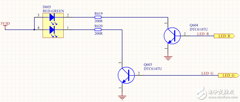 请问这个晶体管为什么是开关管的作用,还有电流方向是怎样的?