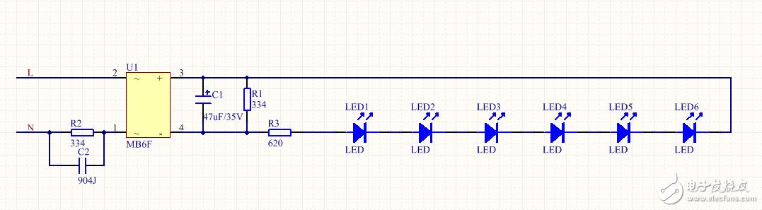 请教一个LED灯泡内部电路问题