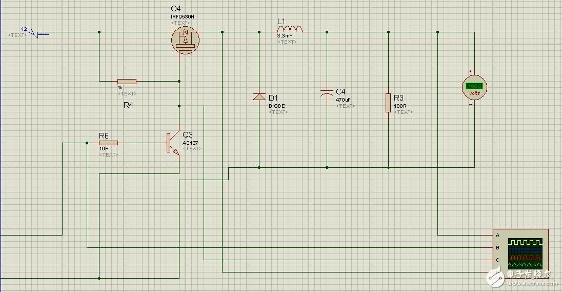 buck电路pmos管一直处于导通状态