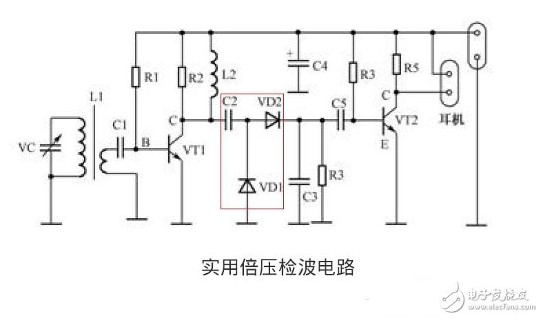 请教这个检波电路的原理