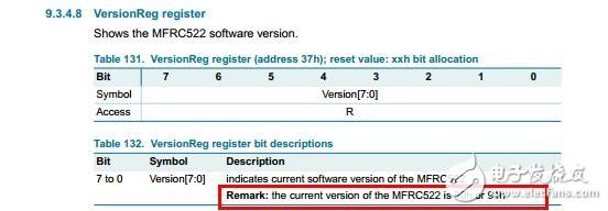 用STM32F103FC8T6 模拟SPI时序驱动MF RC522的rfid模块时,读出的寄存器值不正确,