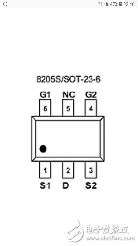 请问场效应晶体管,SC8205s六个引脚怎么接线?