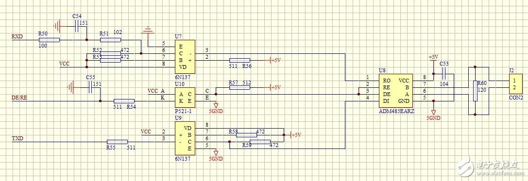 C8051F0051的485电路通信问题如何分析