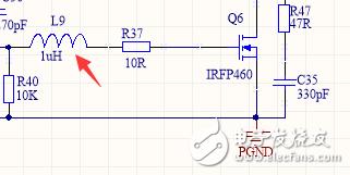 为什么要在MOS管的驱动栅极串联一个电感?有什么作用?