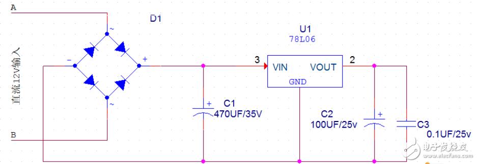 整流电路稳压输出带不起负载