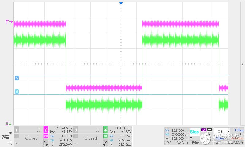 12V电源50HZ工频干扰滤波电路