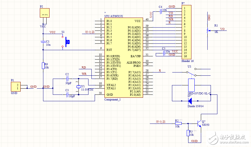SRD-05VDC-SL-C型号继电器如何接入51单片机中