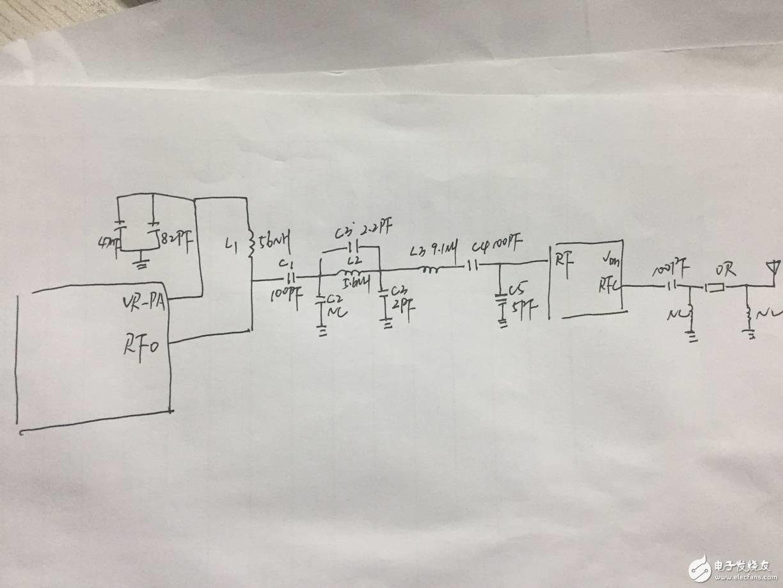 射频匹配要求发射18.5dbm,电流100mA应该怎么调