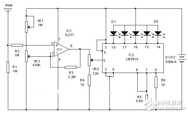 【每天看电路第92期】大气电荷监控电路