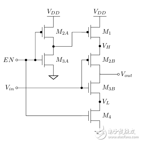 三态反相缓冲器模拟信号的分析