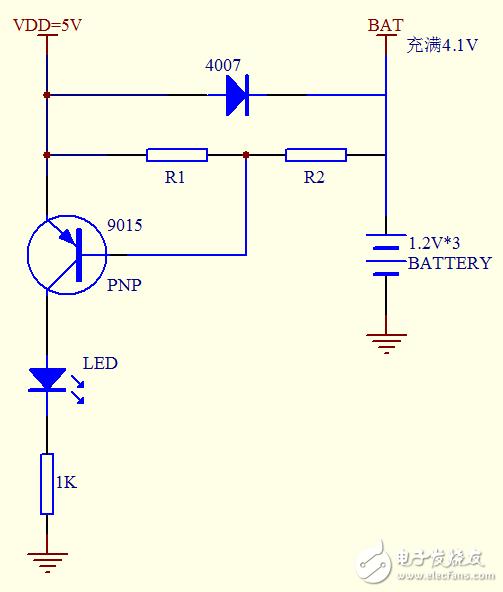 請教充電指示電路的電阻如何取值?