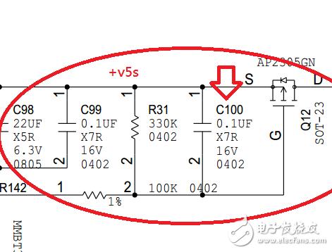 如图所示电路中的0.1uf 电容有什么作用?