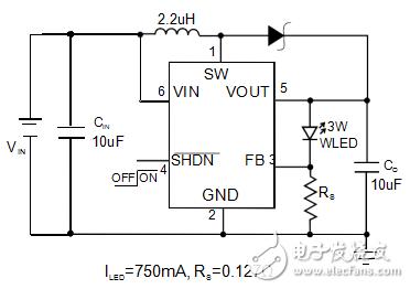AP2803白光LED大功率3W驱动电源IC