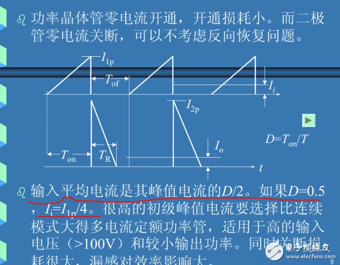 为何输入平均电流是其峰值电流的D/2