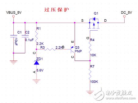 過壓保護電路正常電壓時如何減小漏電流