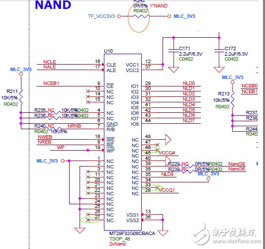 NAND闪存原理图中NC引脚的作用
