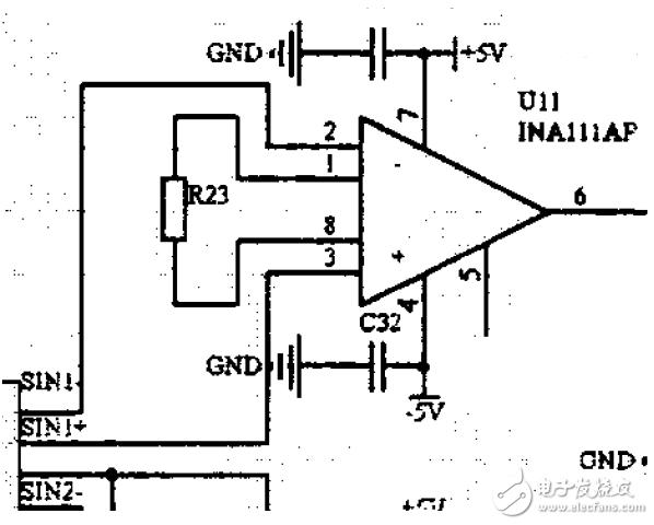 INA111AP放大器输出问题求解