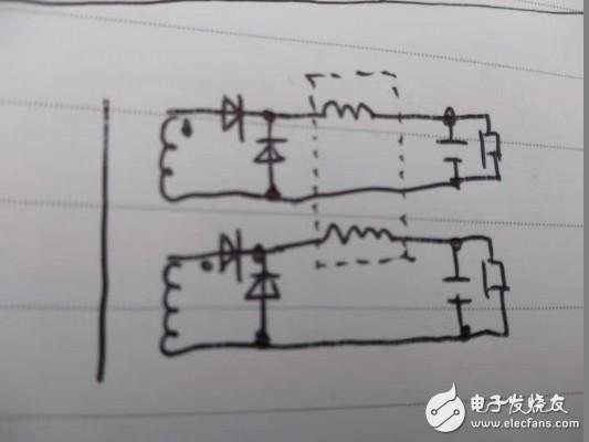正激电源输出,滤波电感共用磁芯两个绕组接成共模形式还是差模形式效果好些?