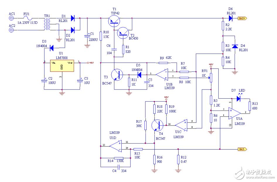 请问这个电路图怎么改可以使用光伏发电板对12v蓄电池充电?