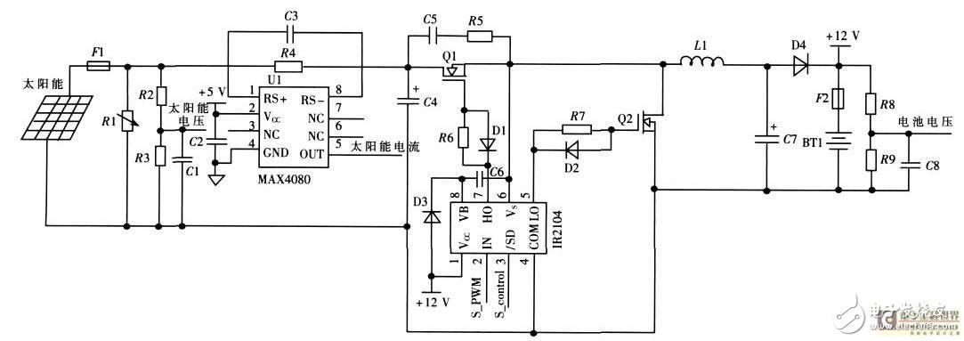 太阳能充电 mppt跟踪 三段式充电