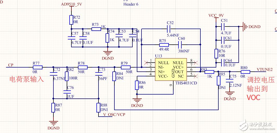 AD9510关于PLL锁定频率的寄存器配置?