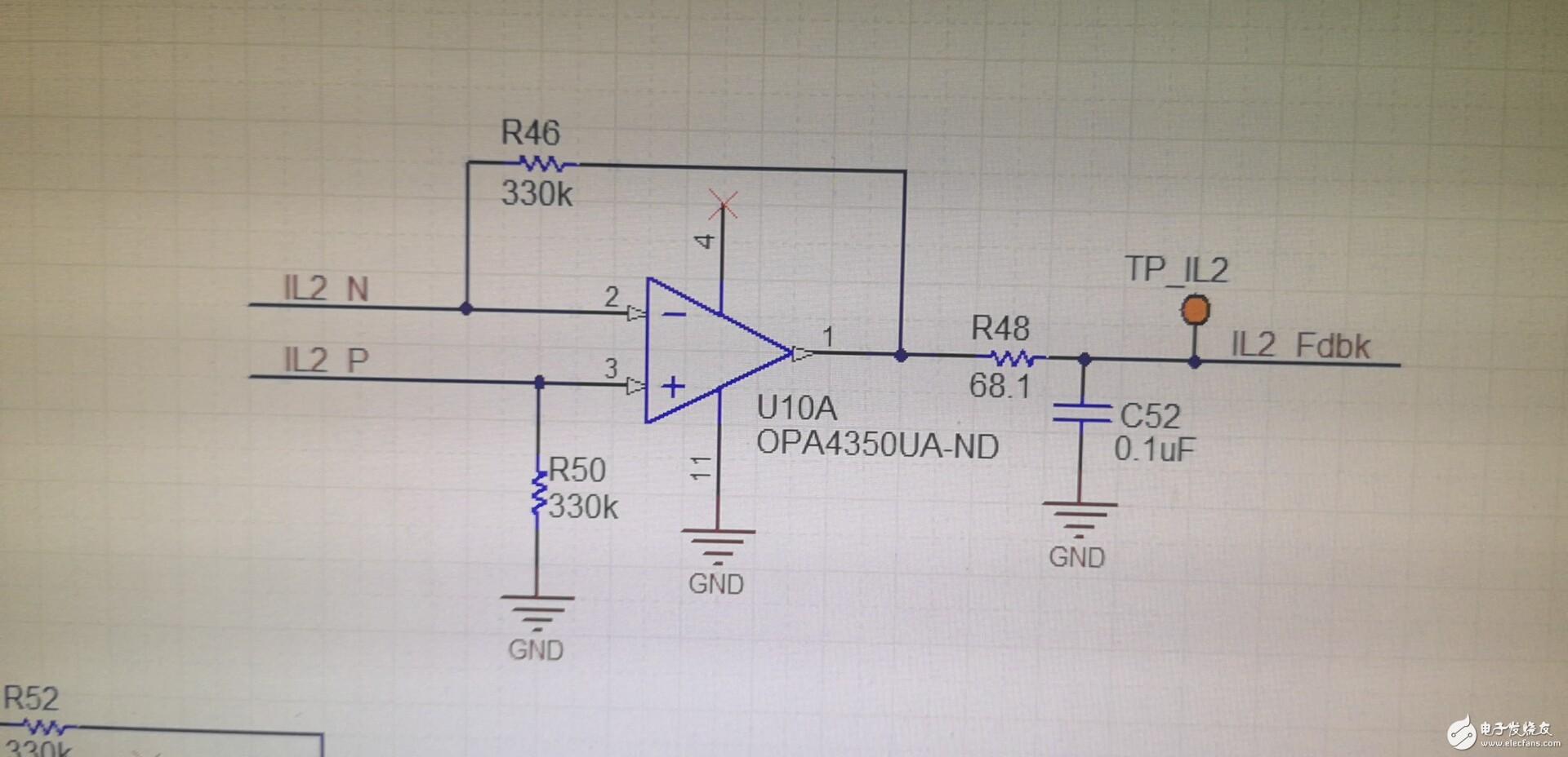 轨到轨运放OPA4350输出问题