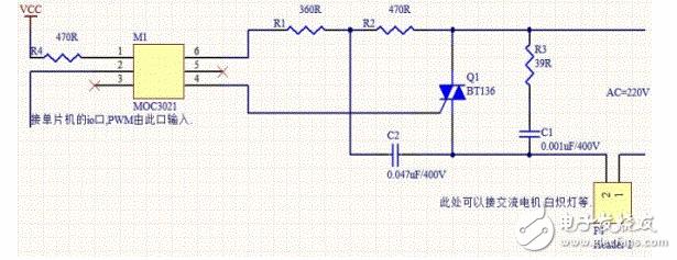 图中双向可控硅控制电路的3个电阻用多大功率的,具体如何计算?