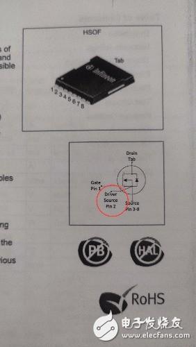 关于场效应管IPT60R028G7额外多的一个引出端的功能