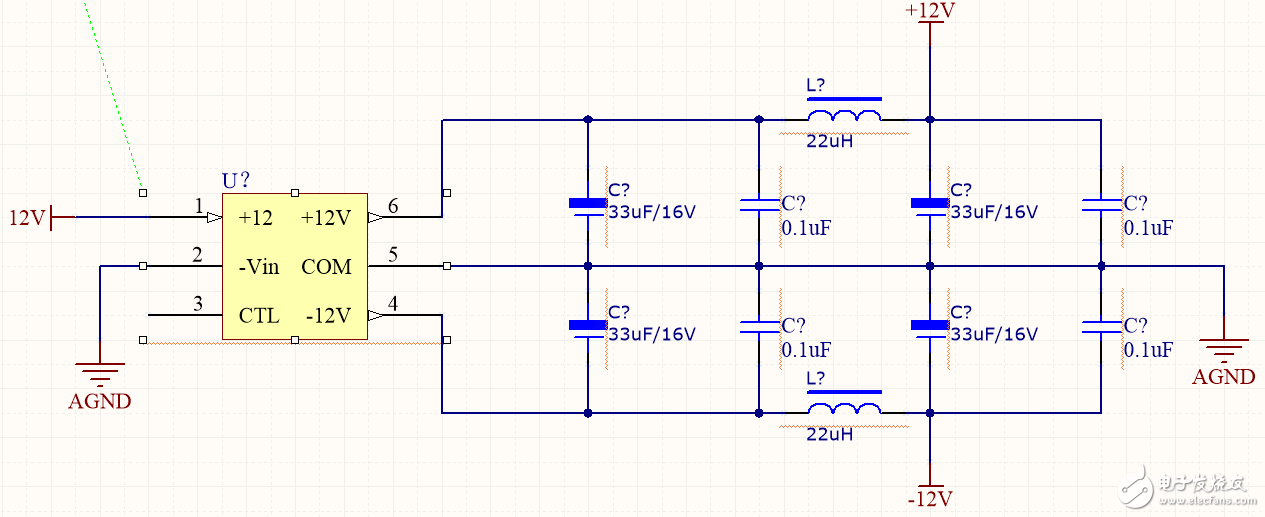 DCDC电源模块后接的CLC π型滤波 电容电感值如何选取