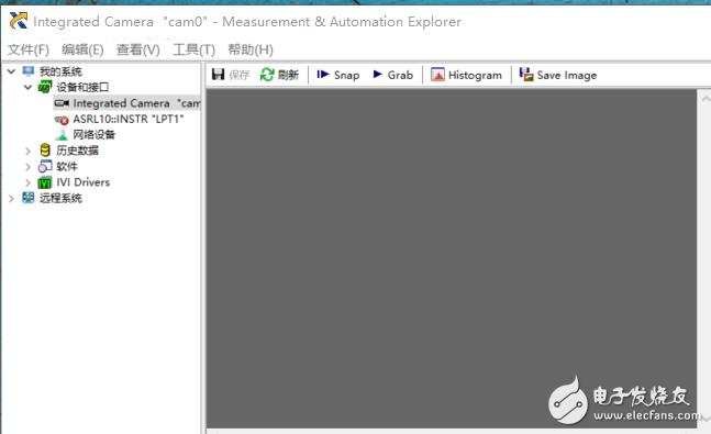 打开NI MAX查看摄像头并尝试Grab图像时发生错误0x80040127
