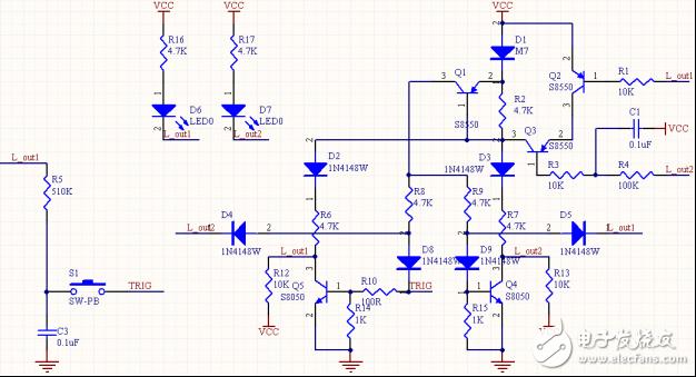 经验分享:图解调试稳定的三极管一键开关机电路