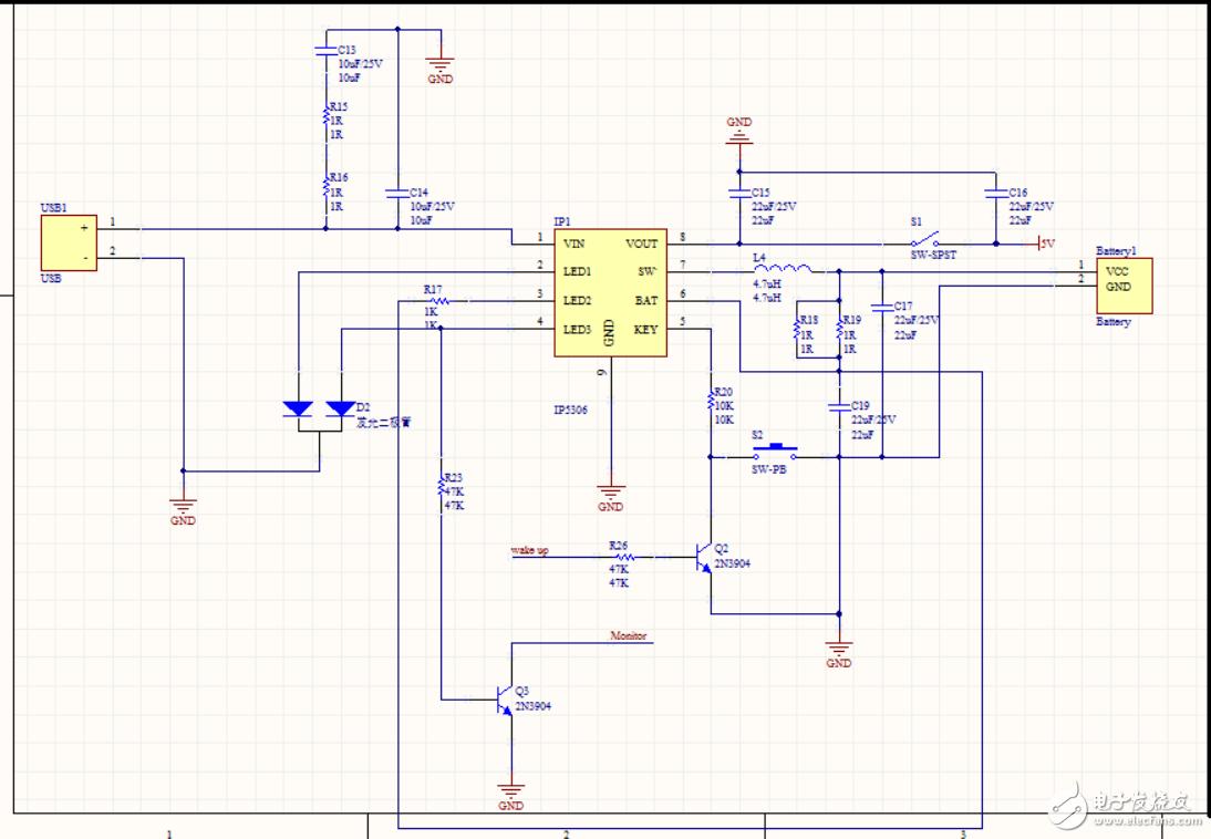 请教电路问题,关于IP5306升压IC无法正常工作
