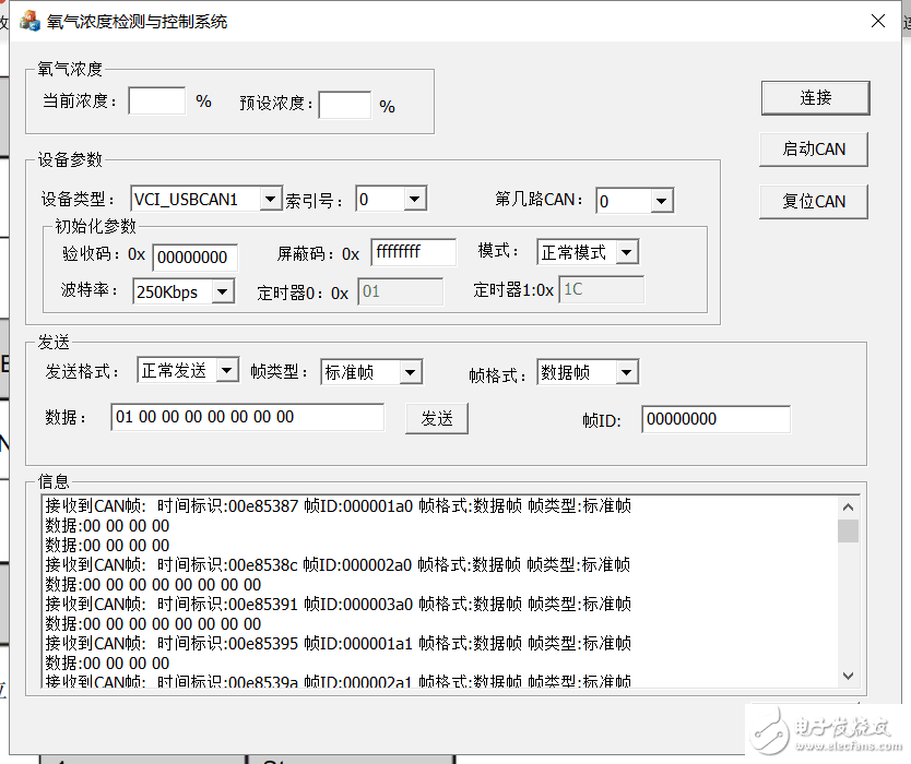 MFC编写的USBCAN上位机软件怎么才能读取?#20197;?#22312;USBCAN上的IO模块数据?