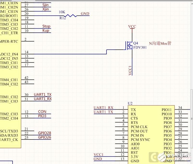 Mos管的压降太大电路无法使用,请教如何修改?
