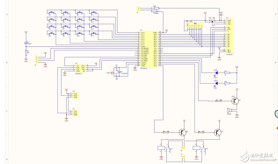 下面4个器件在电路图里的�}作用